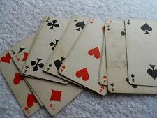 Ancienne partie de jeu de cartes , petites valeurs
