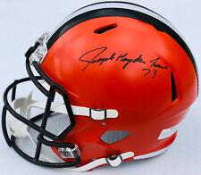 PSA/DNA Browns #73 JOE THOMAS Signed Autographed SPEED Football Helmet FULL SIG