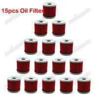 15x Oil Filter For SUZUKI DRZ 400 400E 400S 400SM LTZ400 LTR450 KAWASAKI KFX400
