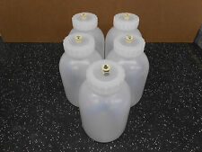 LOT OF 5 x BEL-ART SCIENCEWARE MASON JAR WIDE MOUTH W/ CPC QUICK CONNECT