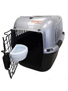RAC Pet Plastic Dog Portable Transport Travel Carrier Large