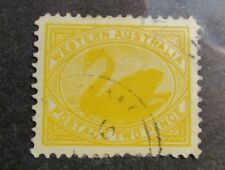 WESTERN AUSTRALIA Scott #77 Θ used Swan - Two Pence postage stamp