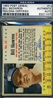 1963 Post Moose Scowron Signed Psa/dna Autograph Authentic