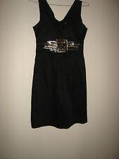 FOREVER NEW BLACK WITH GOLD EMBELLISHED COCKTAIL DRESS  SIZE 6