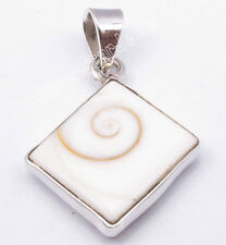 """FREE SHIPPING !925 Solid Silver SQUARE SHIVA EYE Pendant 1.2"""" Price 0.99 cent"""