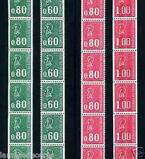 MARIANNE de BEQUET les 4 Roulettes de 11 timbres ** !!