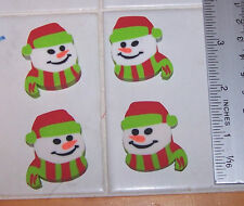 LOT Of 4 Cute SNOWMAN Snowmen Erasers Christmas