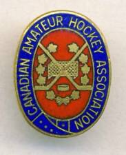 old CANADIAN Amateur HOCKEY ASSOCIATION Pin BADGE Ice Hockey CANADA