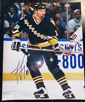 Francois Leroux Signed Autographed 8X10 Photo NHL Hockey Pittsburgh Penguins.