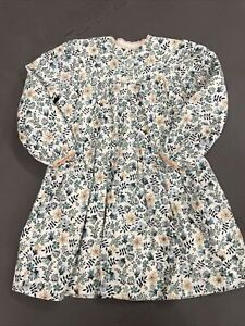 Papo d'Anjo 4 Years Girls Floral Corduroy Long Sleeve Lined Dress EUC FS Charity