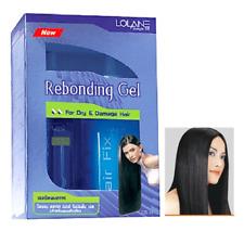 LOLANE Set Kit straight off rebonding gel dry damage hair straightening 125 ml.