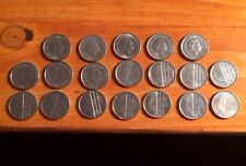 Coins X 19 - Netherlands 25 Cents (1950, 1964, 1968, 1972, 1979, 1980, 1982...)