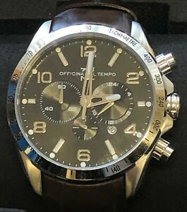 OFFICINA DEL TEMPO MADE IN ITALY OT1046-110NM Chronograph with date