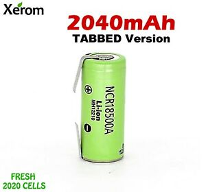 1x Panasonic NCR18500A TABBED 2040mAh 18500 /18490 Li-Ion Rechargeable Battery