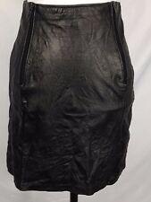 Vintage 80s Goth Punk Short Skirt Black Wrinkle Double Zip V back small7