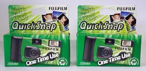 2 x FUJI Fujifilm QuickSnap disposable Single Use Flash Camera 27 Exp. (UK)  SUC