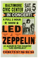 "LED ZEPPELIN CLASSIC CONCERT POSTER 12"" X 18"""