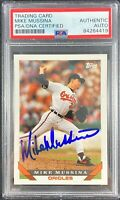 Mike Mussina auto card 1993 Topps #710 Baltimore Orioles PSA Encapsulated
