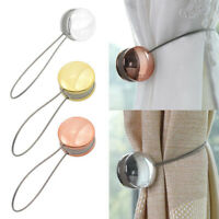 New 1PC Hook Tieback Buckle Magnet Curtain Holder Strap Steel Wire Home Decor