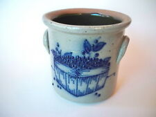 Salmon Falls Pottery Stoneware Crock Blueberries