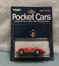 Tomica Pocket Cars Porsche 356 Speedster MOC BP MIP carded 1/64 Tomy Blister