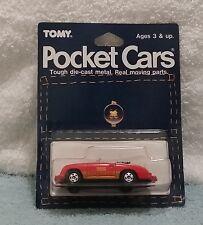 Tomica Pocket Cars Porsche 356 Speedster MOC BP MIP carded 1/64 Tomy Blister