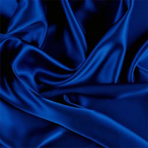 Blue Silk Charmeuse, Fabric By The Yard