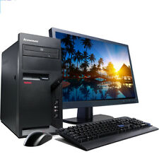 "Lenovo Windows 10 Desktop Computer Tower Pc Core 2 Duo 2.13Ghz 4Gb w/17"" Lcd"