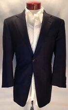 E203 Ermenegildo Zegna Trofeo Navy Windowpane 100% Wool Suit 40R Made In Italy