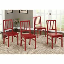Dining Room Chairs Set Of 4 Modern Wood Kitchen Seats Country Slat Back