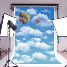 Hot Air Balloons Clouds Sky Photography Background 5x7ft Vinyl Photo Backdrops