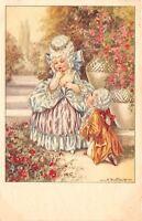 A Bertiglia~Regency Couple~Boy Gets Down On Knee to Elegant Girl~Garden~#2468