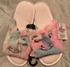 BNWT Ladies Fluffy Unicorn Slippers. Size 7-8 Shoe