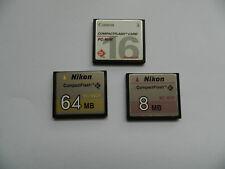 3 x Compact flash karten gebraucht formatiert