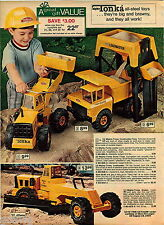 1974 ADVERT 6 Page Tonka Toy Trucks Mighty Dump Loadmaster Crane Camper Mini