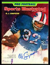 O.J. OJ Simpson Autographed Signed Sports Illustrated Bills Beckett S76671