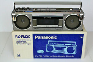 Panasonic Platinum RX-FM30 Vintage Cassette Boombox Japan MIB REFURBISHED Video