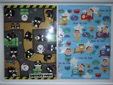 New Lot of 2 Sanrio Bad Badtz-Maru Minna No Tabo A4 Poly Folder