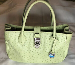 Dooney and Bourke Ostrich leather handbag Pastel Green color great condition