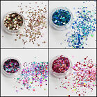 Mixed Flake Chunky Glitter Pots Nail Face Eye Shadow Tattoo Festival Body Dance