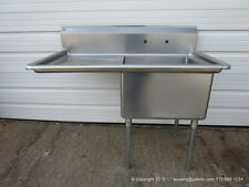 "Stainless Steel 1 Compartment Sink, 16Ga, Bowl Size 24""x24""x14"",1 D/B 24"", NSF"