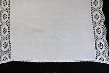 Vintage white cloth with crochet edge.