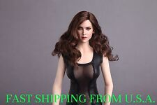 1/6 Female Head Sculpt Long Curly Hair For Hot Toys Phicen Figure ❶USA IN STOCK❶