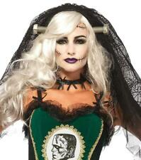 Bride of Frankenstein Lace Veil Monster Fancy Dress Halloween Costume Accessory