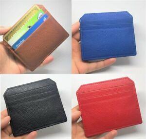 Pebbled Leather Card Holder Designer Wallet Slim Purse Mens Womens Ladies New