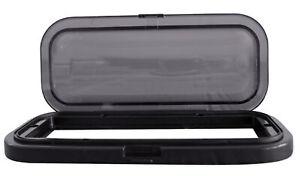 Rockville RWSG3B Universal Marine/Boat Splash Guard Stereo Housing Case Black