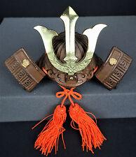 Japanese Kabuto Samurai Warrior Helmet Armor Replica Miniature Cast Iron