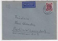 Bundesrepublik FLP-Brief mit Posthorn EF