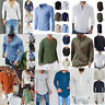 SUMMER MEN'S LONG SLEEVE CASUAL SHIRTS NEW SOLID COLOR COTTON SHIRT TOPS SLIM
