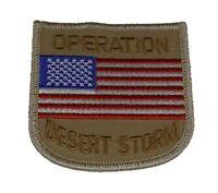 OPERATION DESERT STORM W/ USA FLAG PATCH ODS SHIELD GULF WAR VETERAN